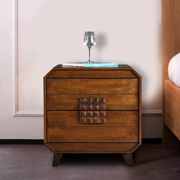 Hometown Sterling Solid Wood Bedside Table