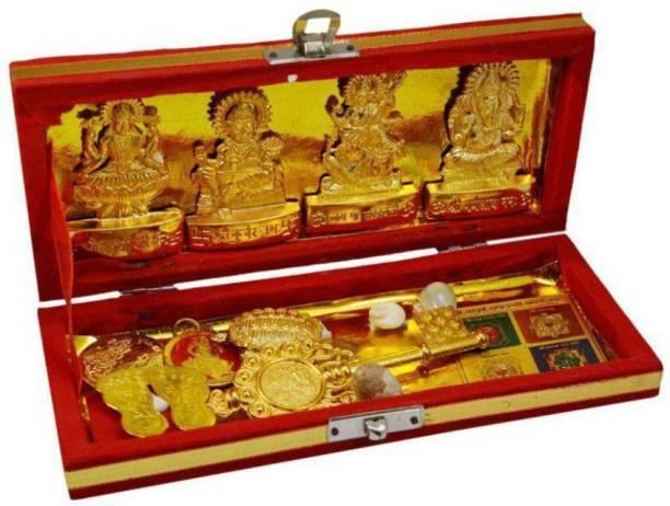 PAYSTORE Shree Dhan Lakshmi Kuber Bhandari Sampoorna Kripa Maha Yantra (13 Items) Copper Yantra