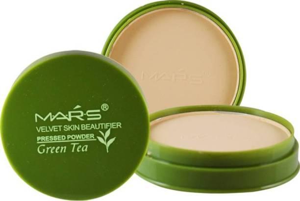 M.A.R.S Velvet Skin Green Tea Compact Powder Compact