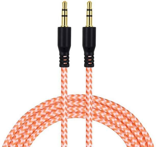 Fedus Nylon 3.5mm Male to Male Car Stereo Aux Cable-Multicolor-3F_M 1 m AUX Cable