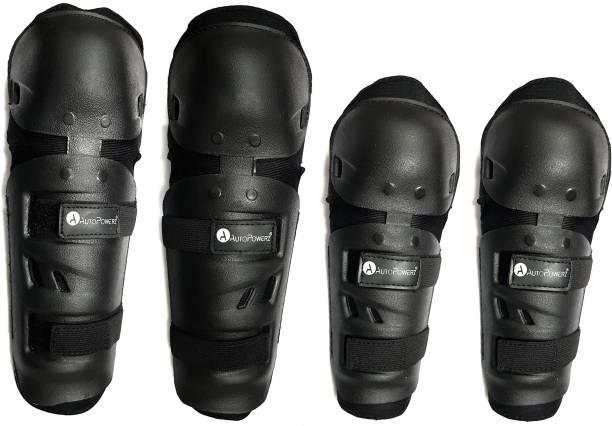 AutoPowerz Knee and Elbow Guard Knee Guard, Elbow Guard, Shin Guard XL Black
