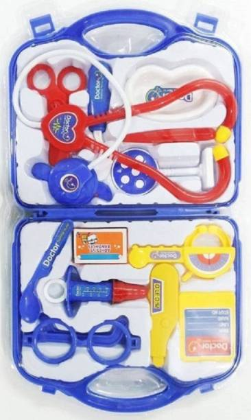j h traders Medical Suitcase Toy With Medical Equipments For Doctors Dr set