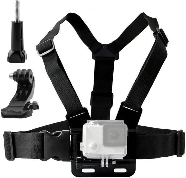Techlife Solutions Adjustable Chest Harness Mount J Hook Mount - Chest Strap Holder Strap