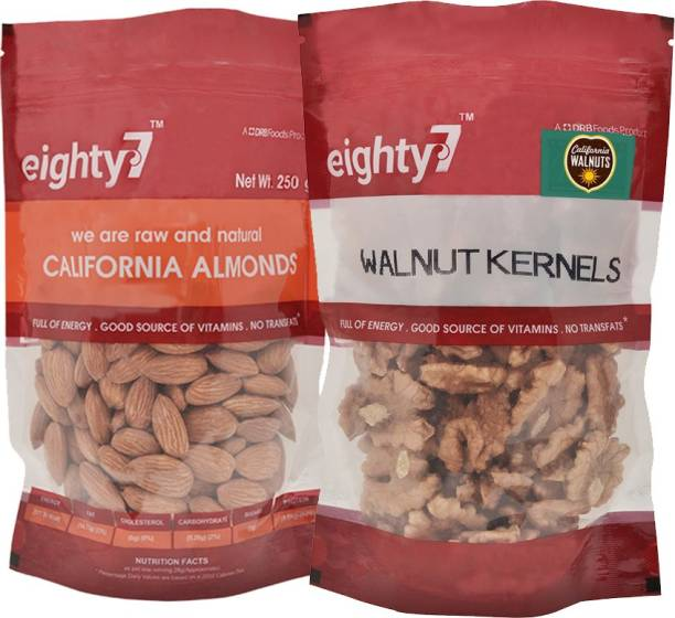 Eighty7 California Almonds(250g) and Walnuts Kernels(180g) Assorted Nuts
