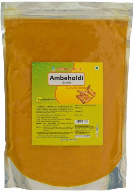 Herbal Hills Ambehaldi Powder - 1 kg powder - Pack of 2