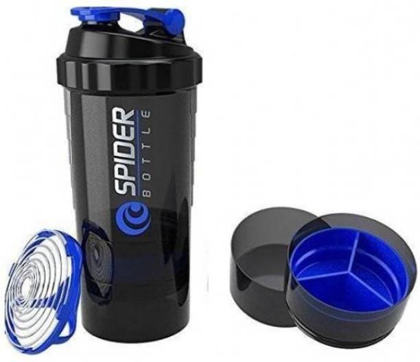 spider Protein shaker bottle, 550 ml, Leak proof, storage container, bpa free 550 ml Shaker