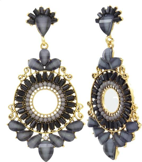 735afb3fceb Nakabh Traditional Collection Fancy Party Wear Stone Earrings Stone Drops    Danglers