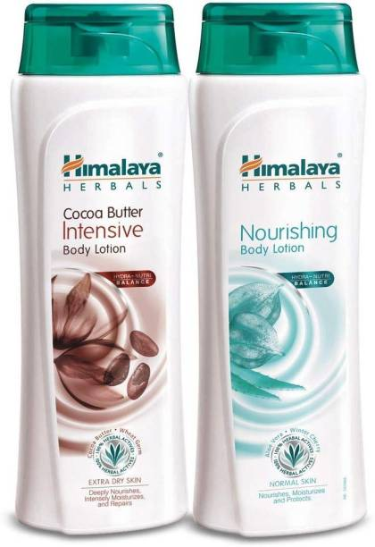 Himalaya Herbals Cocoa butter & Nourishing Body lotion Combo 4pcs (Pack of both 2+2 pcs)