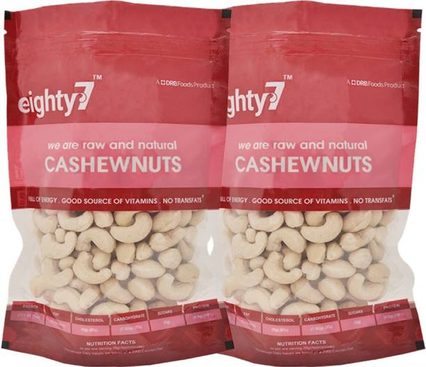 Eighty7 Cashews(250g each) - Pack of 2 Cashews