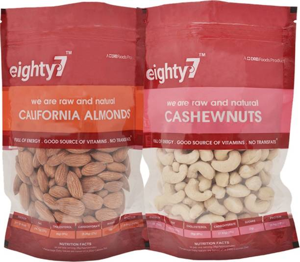 Eighty7 California Almonds(250g) and Cashews(250g) Assorted Nuts