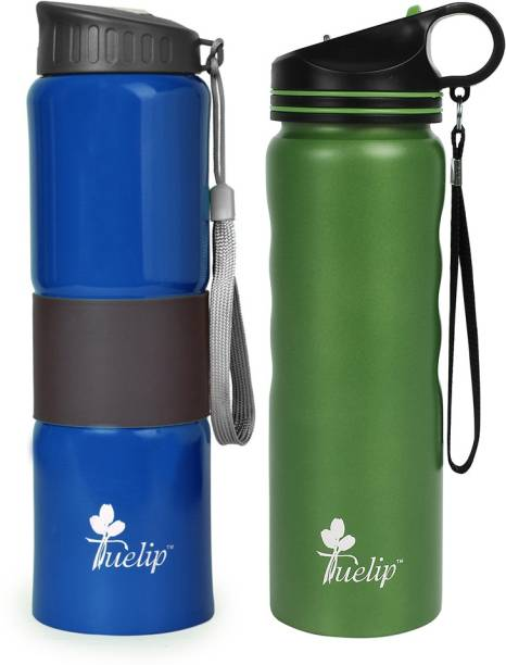 bf7dfbdac34 Tuelip Set of 2 Sports Stainless Steel Water Bottle for School Going Kids  Girls   Boys