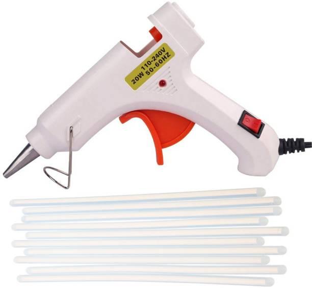 Hotmelt WHITE 20W 20WATT WITH 10 TRANSPARENT STICKS Standard Temperature Corded Glue Gun