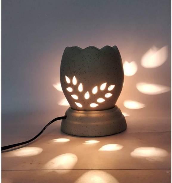 Bright Shop Ceramic Electric Diffuser Oil Burner Flower Design Aroma Oil Burner Natural Air Fragrance For Office & Home (Brown Colour) Diffuser