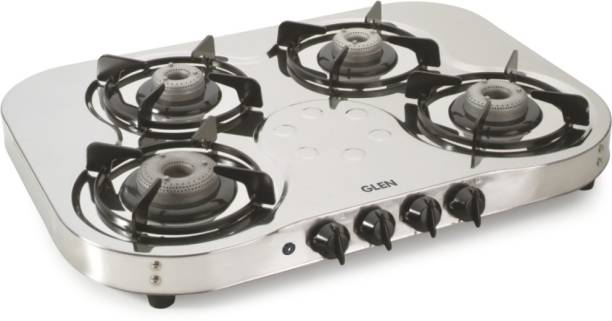 a49c5469d GLEN CT1045SSHFAI 4 High Flame Stainless Steel Automatic Gas Stove
