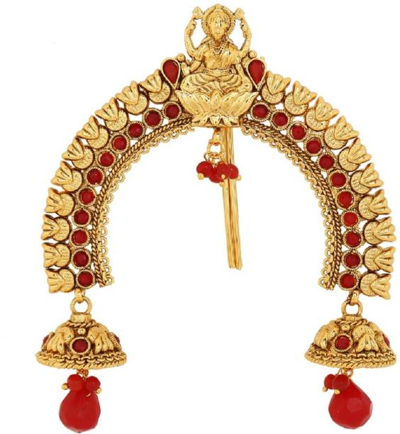 AccessHer Copper Antique gold Temple Jooda pin Hair Chain