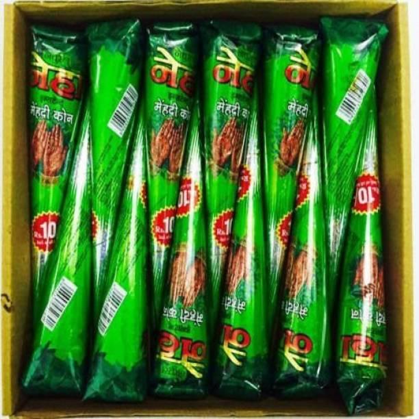 neha Herbal High Quality Mehendi Cone (12 Pcs ) Natural Mehendi(Pack of 12) Natural Mehendi