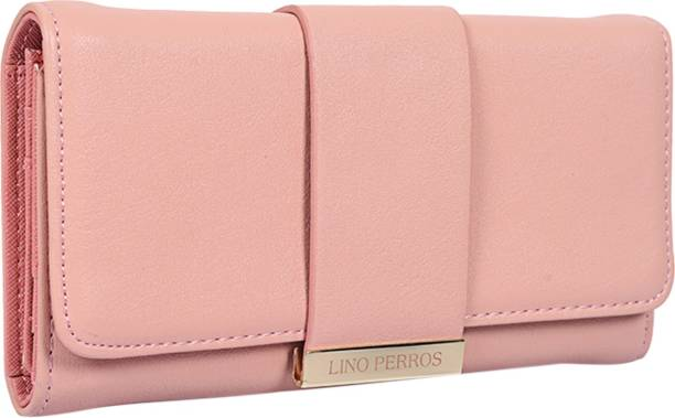 LINO PERROS Women Casual Pink Artificial Leather Wallet