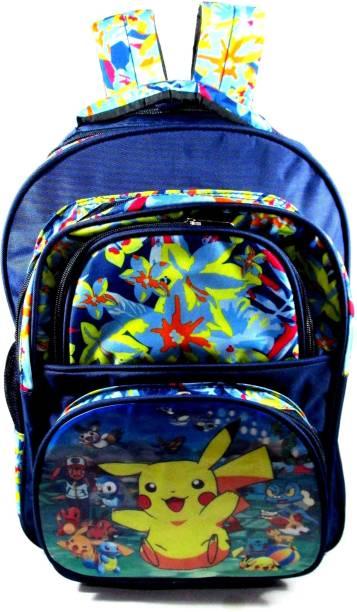 ehuntz Pokemon Sturdy Digital print (9 to 17 years) school Bag (EH1398) Waterproof School Bag