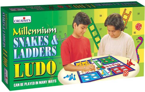 Creatives Millennium Snakes & Ladders Ludo Party & Fun Games Board Game