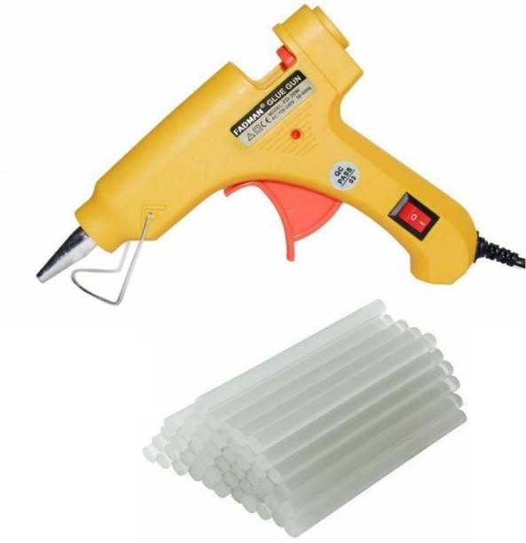 FADMAN Yellow Mini 20 Watt & 25 Glue Sticks Hot Melt Glue Gun For Art & Crafts, DIY, Kirigami, Paper, PCB, Plush Toys, Crafts, Wood,Box Standard Temperature Corded Glue Gun