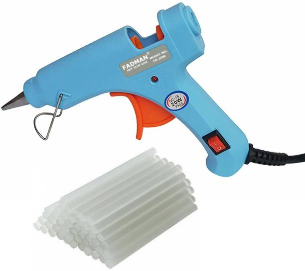 FADMAN Sky Blue Mini 20 Watt & 25 Glue Sticks Hot Melt Glue Gun For Art & Crafts,DIY,Kirigami,Paper,PCB,Plush Toys,Crafts,Wood,Box Standard Temperature Corded Glue Gun