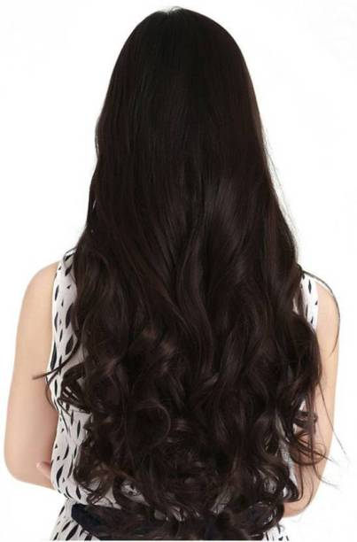 CRIBE 5 Clips Best Quality Natural Brown Wavy Hair Extension