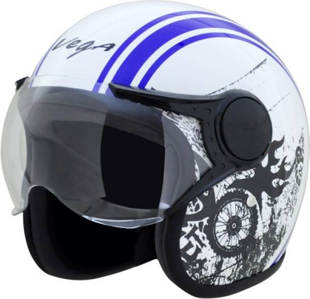 VEGA Jet Old School W/Visor Motorbike Helmet
