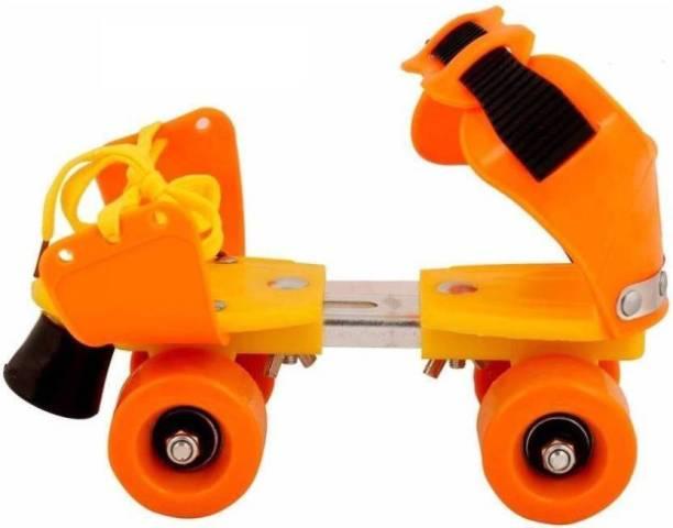 Authfort Roller Skates Adjustable Size Cool Look and Color Dry Skate Quad Roller Skates - Size 4-8 UK (Multicolor) Quad Roller Skates - Size 4-8 UK