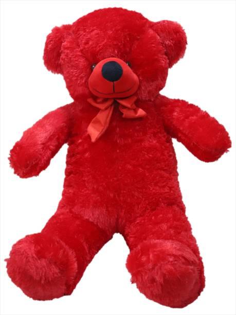 ORIGINAL HUB 3 FEET RED TEDDY BEAR 95.5 CM  - 95.5 cm
