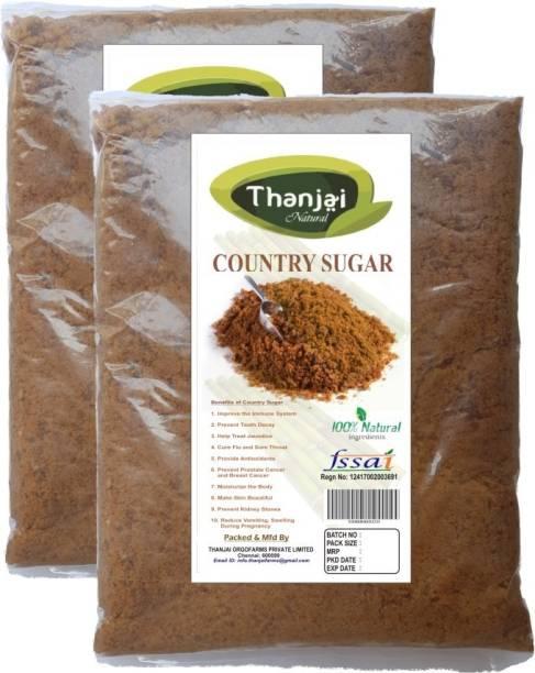 THANJAI NATURAL Organic Country Sugar 2kg Traditional Method Made 100% Natural Sugar