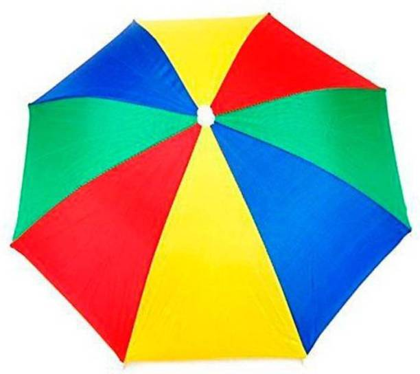 Auf Hands Free Head Umbrella To Protect From Sun & Rain For School Going Kids And Adults Umbrella (Multicolour) Pack of 1 Umbrella