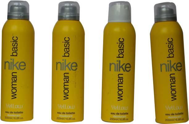 NIKE Basic Women Yellow (Pack of 4) Deodorant Spray  -  For Women