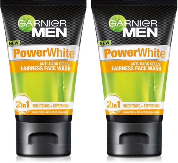 Garnier Men Power White Anti-Dark Cells Face Wash (Pack of 2) Face