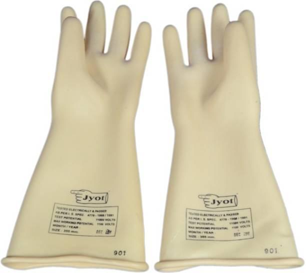 JYOT electric hand gloves for 11 kv line Rubber  Safety Gloves