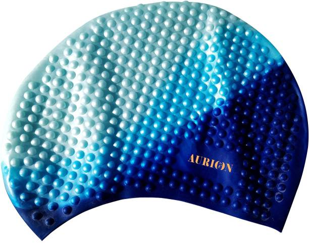 Aurion Swimming Cap-Comfortable Stays in Place-Protecting Long,Thick and Short Hair Swimming Cap