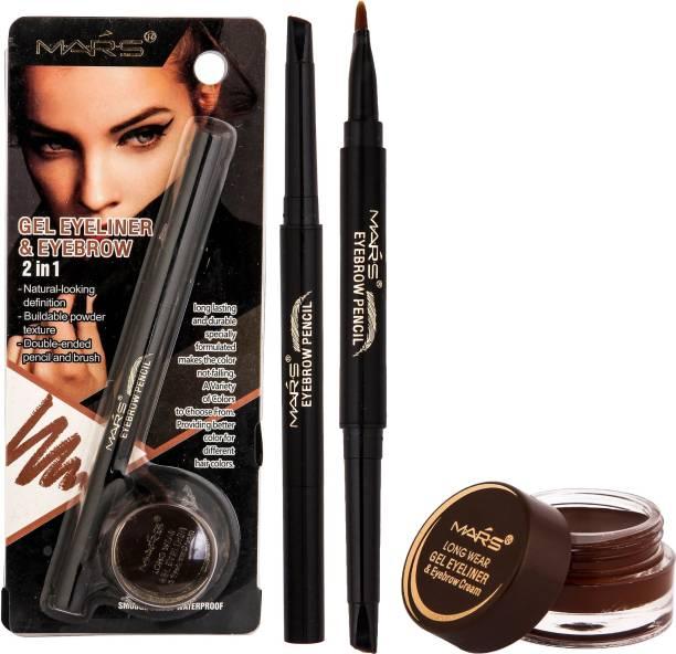M.A.R.S 2 in 1 Smudge proof Gel Eyeliner 3.5 g