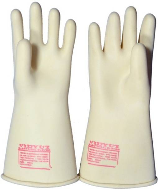 vidyut electric hand gloves for 11 kv line by balaji trading co. rubber Rubber  Safety Gloves