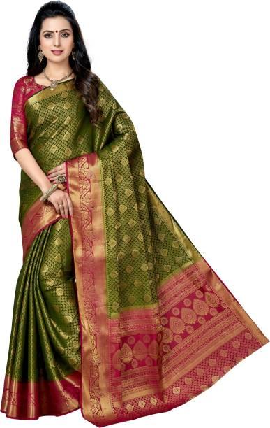 M.S.RETAIL Self Design Banarasi Jacquard Saree
