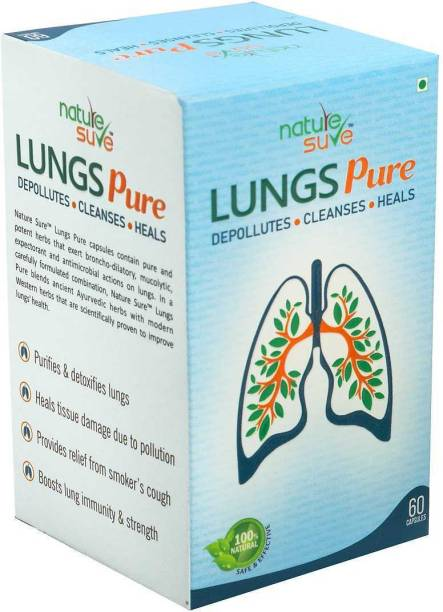 Nature Sure Lungs Pure Capsules for Men & Women – 1 Pack (60 Capsules)