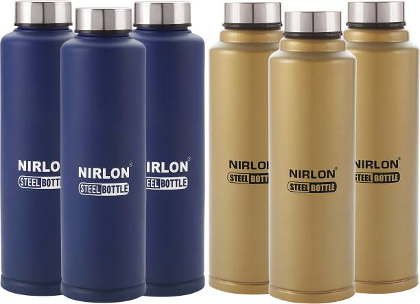 aab3d7bd481 NIRLON Stainless Steel Leak Proof Freezer water Bottle Combo Set Offer 1000  ml Bottle
