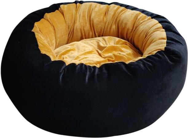 Hiputee Ultra Soft Reversible Velvet Round Dog/Cat Medium M Pet Bed