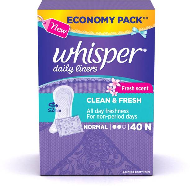 Whisper Daily Liners Clean and Fresh Pantyliner