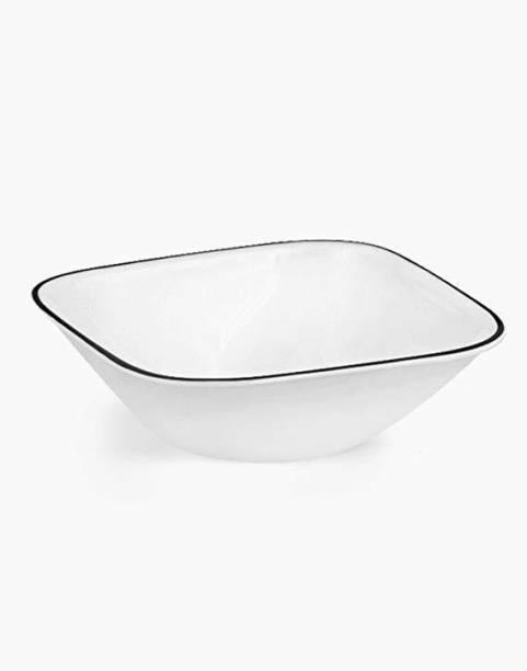 CORELLE Sq. Curry Bowl-Black Porcelain Soup Bowl