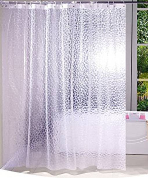 Kuber Industries 240 Cm 8 Ft PVC Shower Curtain Single