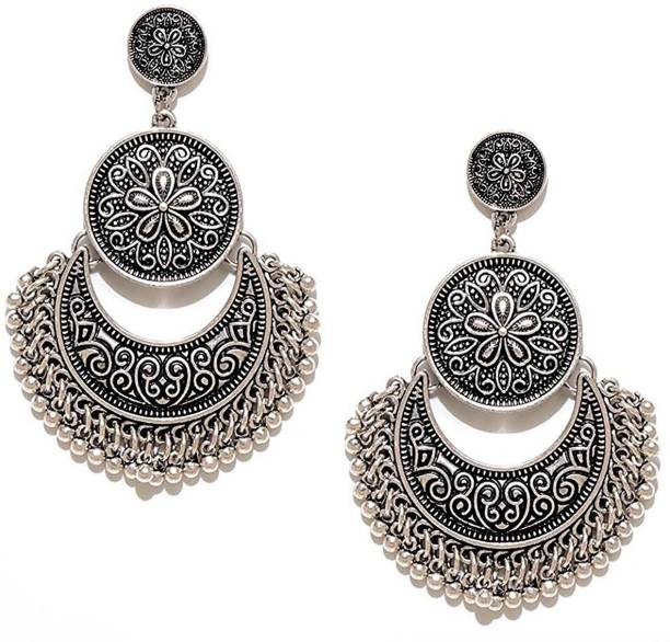 You Bella Stylish Fancy Party Wear Jewellery Alloy Drops Danglers