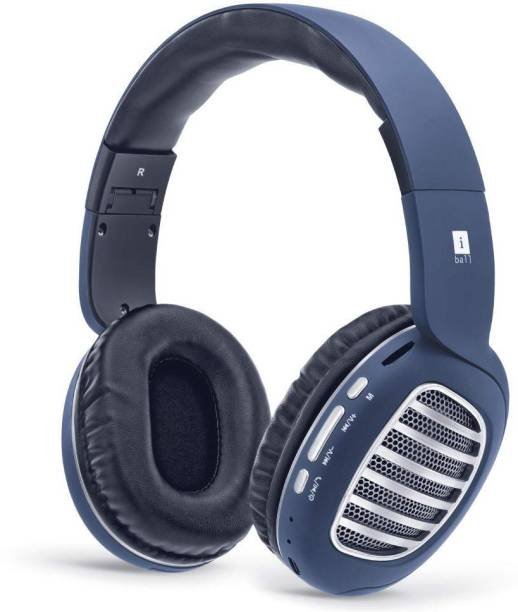8fcee76777e iball Decibel BT01 Smart Headset with Alexa Enabled Bluetooth, Wired Headset  with Mic