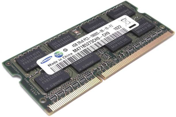 SAMSUNG Laptop RAM DDR3 4 GB (Dual Channel) Laptop (4GB DDR3 1333 PC3-10600 (M471b5273ch0-ch9))