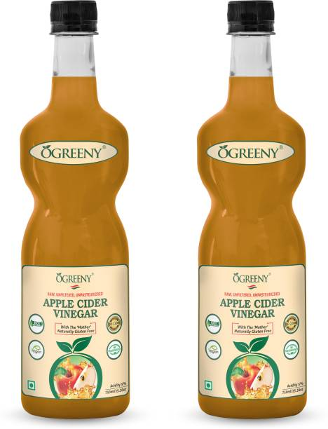 OGREENY Apple Cider Vinegar With Mother Natural, Raw, Unfiltered & Undiluted Vinegar