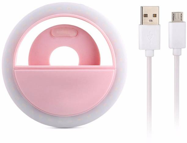 m s megaslim New Fit Design Mini Selfie Ring Light Enhancing Photography Portable Battery Camera Phone Photography 3 levels Selfie LED Flash Light For all smartphone Ring Flash