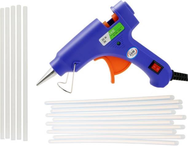 Glun SPARK BLUE 20W 20WATT WITH 15 TRANSPARENT STICKS Standard Temperature Corded Glue Gun